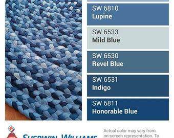 """Denim blue braided rug 48"""""""