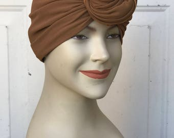Multi Use Handkerchief Scarf - Taupe Georgette