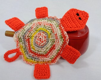 RESERVED Turtle Pot Holder, Tortoise Hot Pad, Trivet for Your Kitchen Table, Mother's Day Gift, Turtle Collector Present, Ocean Theme Decor