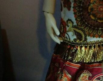 Bjd SD Convertible Boho Skirt or Sundress