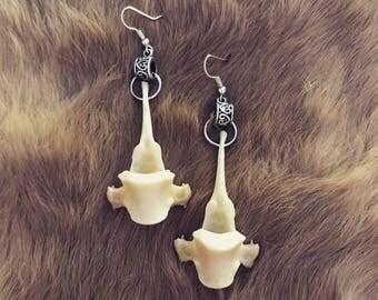 Fox Vertebrae Earrings