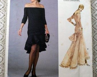 ON SALE Vogue 1995, Misses' Dress Sewing Pattern, Yves Saint Laurent Pattern, Original 1987 Pattern, Misses' Size 6, 8, 10, Uncut