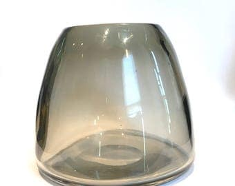 Mid Century Modern Hand Blown Art Glass Vase