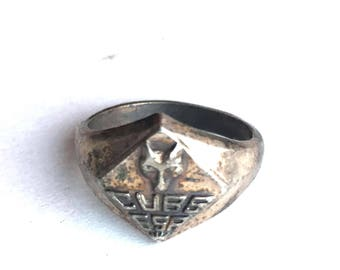 Vintage Sterling Silver Cub Scout Ring