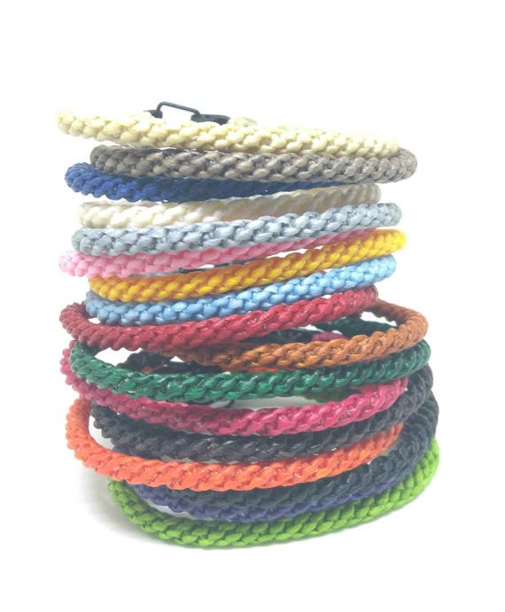 Classic Skinny Wax Cotton Bracelet Handmade in Thailand