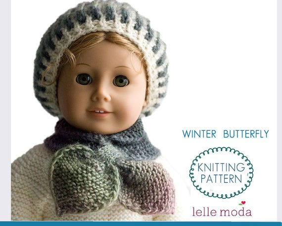Knit Pattern Books For 18 Inch Doll Clothes : Knitting Pattern - for American Girl dolls - 18 inch doll ...