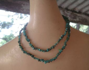 Great Vintage 34 Inch Turquoise Nugget Necklace
