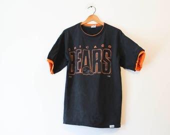 Vintage Black Chicago Illinois Bears Football T Shirt