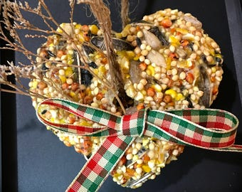 Set of three (3) Birdseed Ornaments (cookies, treats) All handmade, custom packaging
