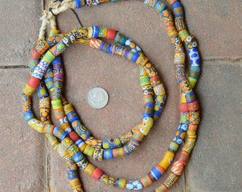 Mixed African Krobo Beads: 2 Strands
