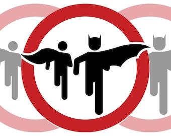 Batman and Robin Crossing Sticker