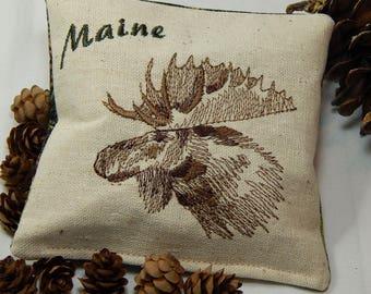 Balsam Sachet, Moose Balsam Pillow, Moose Sachet, Fresh Maine Balsam, Made in Maine, USA