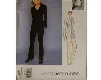 Vogue Pattern 1631 - Vintage Vogue Attitudes Pattern - Uncut