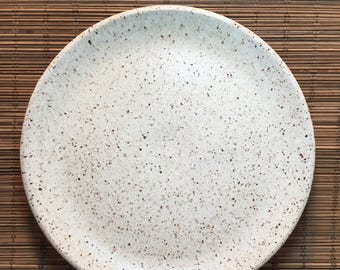 Made to Order - Set of 10 Rustic Plates - Handmade Stoneware Plates - Ceramic Plates - Serving Plates - Set of Plates