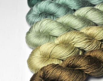 Full camouflage - Gradient of Silk/Cashmere Fingering Yarn