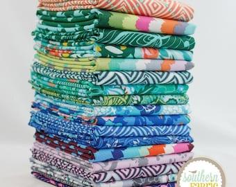 """Violette - Fat Quarter  Bundle - 17 - 18""""x21"""" Cuts - Amy Butler - Westminster Quilt Fabric"""