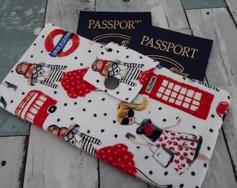 Dollbirdies Original Long Boarding Pass Passport Wallet, Travel Wallet, Passport Wallet, Wallet, Passport Holder