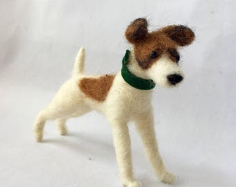 Needle Felted Smooth Fox Terrier Dog