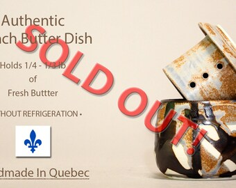 SOLD OUT Butter Dish With Lid, French Butter Dish, Beurrier Breton, Butter Keeper, Butter Crock