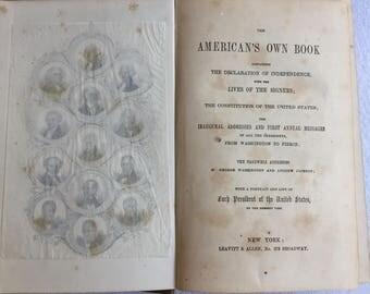 The American's Own Book - 1853 First Ed, Leavitt & Allen New York