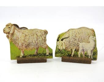 Vintage Farm Animal Cut Outs, Angora Goats, Classroom Decor