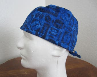 Football - Tie-back Surgical Scrub Hat