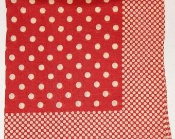 ON SALE Mayson Grey Polka Dots Printed Cotton Hanky Handkerchief