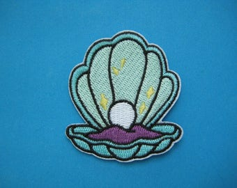 Iron-On embroidered Patch Pearl 2.6 inch