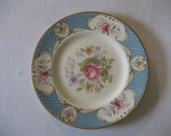 "five small antique plates Myott ""Staffordshire Rose"""