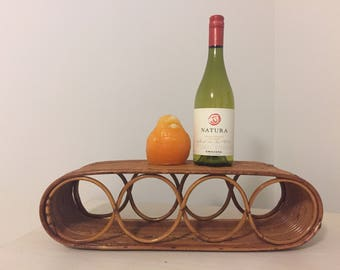 WRAPPED RATTAN WINE Rack, Rattan Wine Holder, Wicker Wine Rack, Wicker Wine  Holder, Paul Frankl Style, Mid Century at Modern Logic