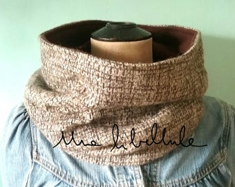 Cowl or snood * just *, Brown and cream