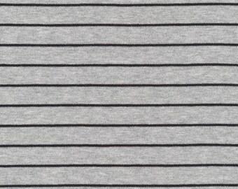 Organic KNIT Fabric - Cloud9 2017 Knits - Stripes Heather Gray