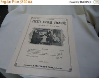 Ephemera & Books 50% Sale Vintage 1930 Perry's Musical Magazine Sheet Music, February, no 11, collectable