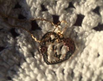 Vintage  14KRGF 1/20 MOM HEART NECKLACE