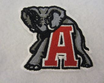Embroidered Alabama Crimson Tide Iron On Patch, Alabama, Alabama Crimson Tide, Crimson Tide, Iron On Applique, Iron On Patch