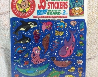 20% SALE 1994 Reuseable Okee Dokee Stickers Underwater Sea Fest Sealed with Sticker Pad