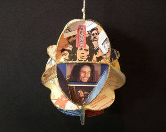 Bob Marley And The Wailers Album Cover Ornament Made Of Record Jackets