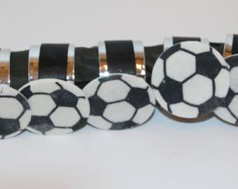 Soccer Felt Foam Napkin Rings Set of 12