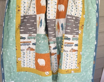 Feather River Baby Boy Quilt