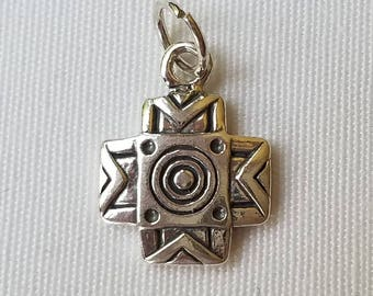 Aztec Cross in Sterling Silver