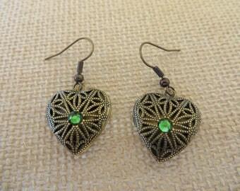 Aromatherapy Heart Locket Earrings
