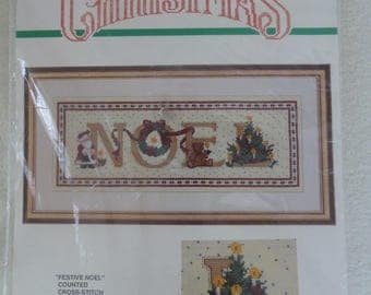 "Bucilla Counted Cross Stitch Kit ""Noel"" 82600"