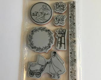 Graphic 45 Cling Stamps Precious Memories 3