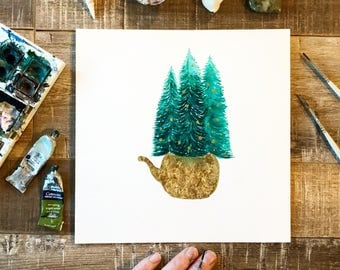 Original Painting // Winter Sancuary // Elise Mahan