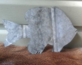Handmade Tin Roof Bream Fish Metal Wall Art