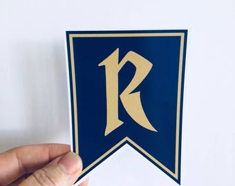 Ravenclaw pennant sticker, laptop decal, water bottle sticker | any smooth surface