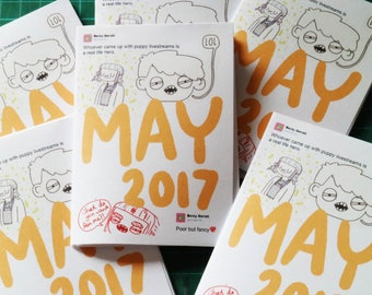 May 2017 Art Zine Sketchbook