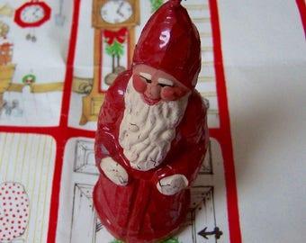 tiny vintage santa candle