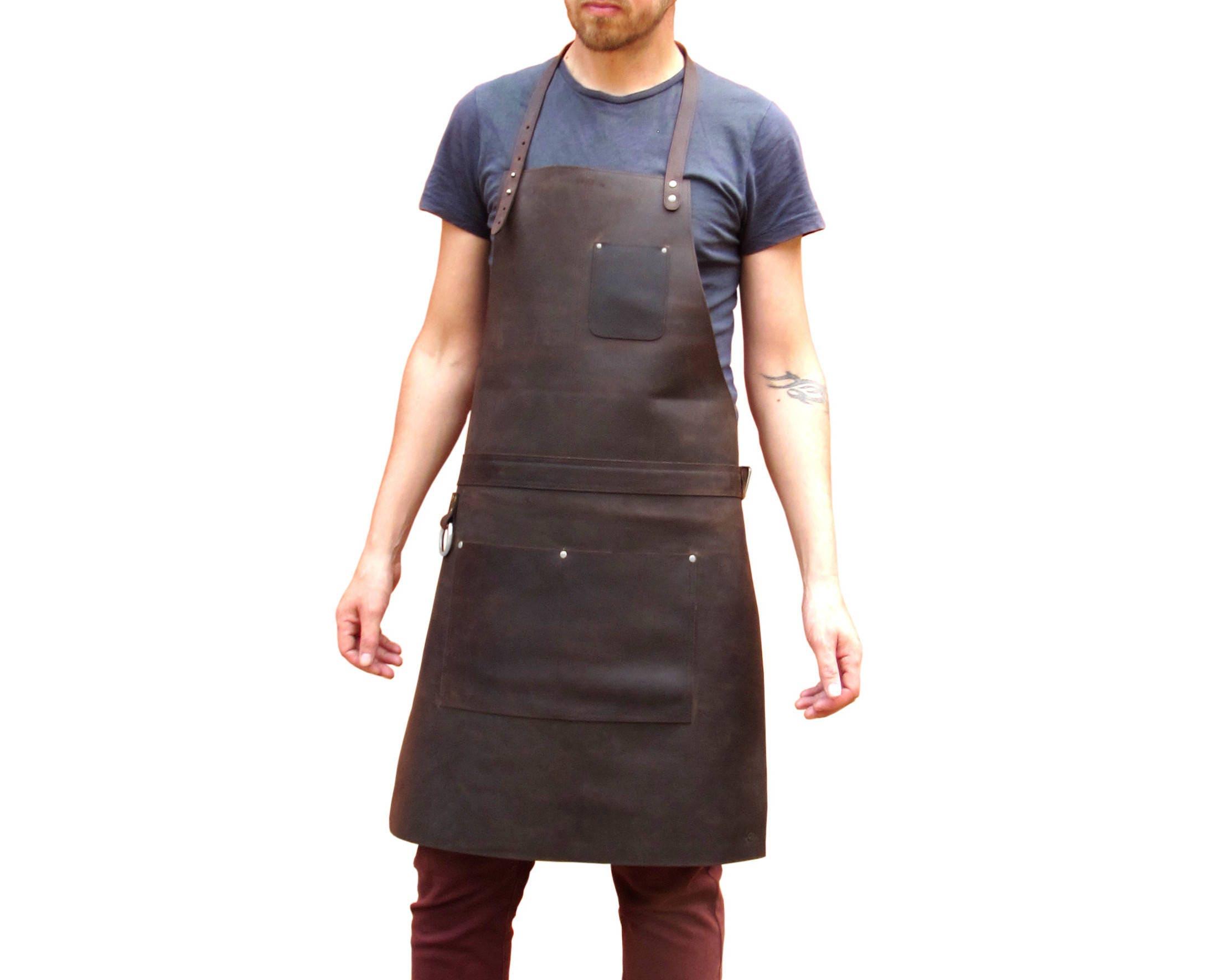 Tablier de cuir pour le chef charpentier forgeron boucher - Tablier de forgeron ...