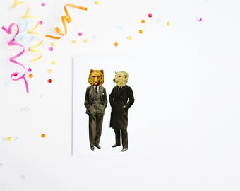 Father's Day Card, Bear Card, Birthday Card for Dad or Boyfriend - The Likely Lads
